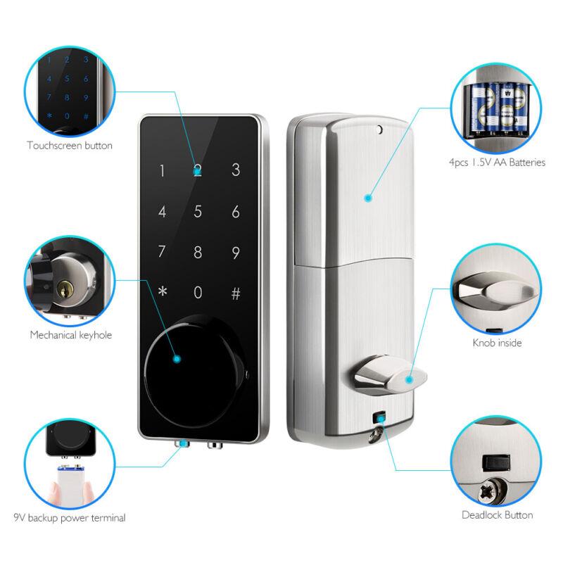Electronic Smart Deadbolt Door Lock Keyless Entry Door APP Security Code keyPad