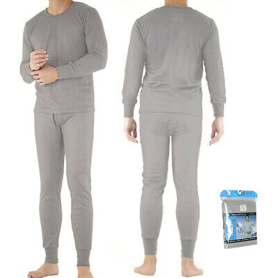 Therma Tek Men's Underwear 2 PC Waffle Knit Thermal Long Johns Top & Bottom Set Clothing, Shoes & Accessories