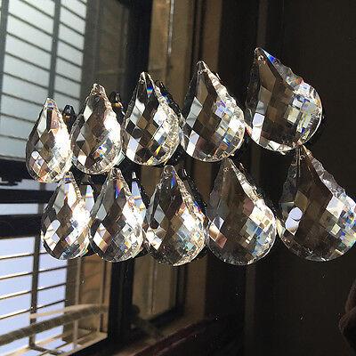 10Pc Chandelier Glass Crystal Suncatcher Lamp Prisms Hanging Drop DIY Pendant