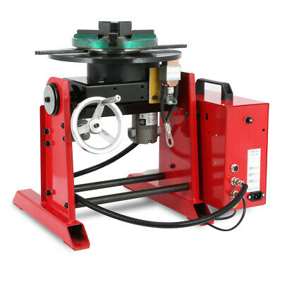 Turntable Timing 30kg Rotary Welding Weld Positioner 200mm Chuck Foot Switch