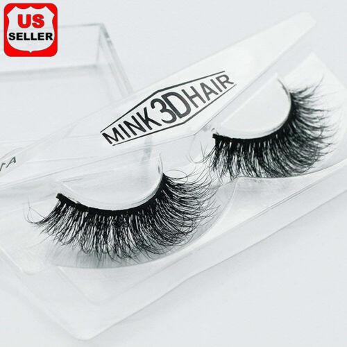 100% Siberian Mink Fur Soft Thick 3D False Eyelashes Natural Long Lashes Handmad Eyes