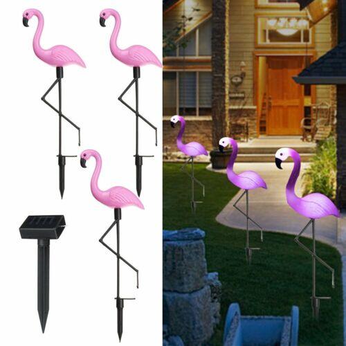 Solar Gartenstecker Solarleuchte Pink Flamingo Gartendeko Gartenleuchte
