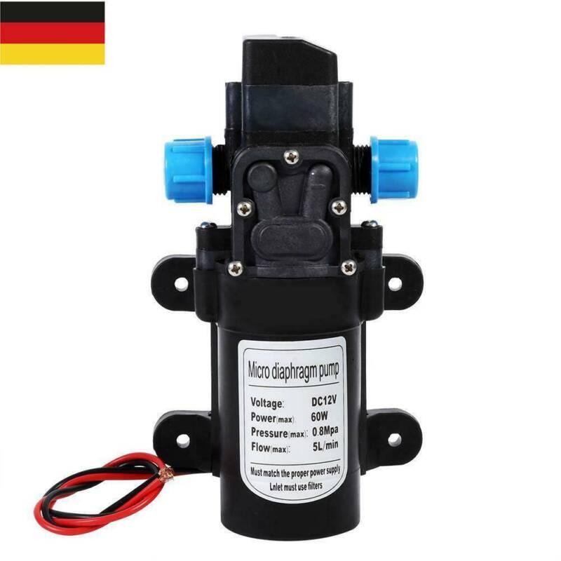 Wasserpumpe Selbstansaugende Pumpe 12V 60W Hochdruckpumpe Membranpumpe Yacht DE