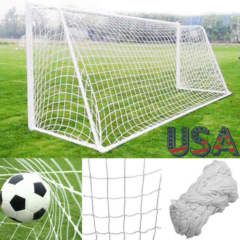 Football Net 24 x 8 FT Soccer Goal Post Nets Full Size Sports Training Match New