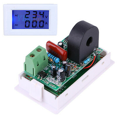 Ac 100-300v Lcd Digital Volt Voltage Watt Current Power Meter Ammeter Voltmeter