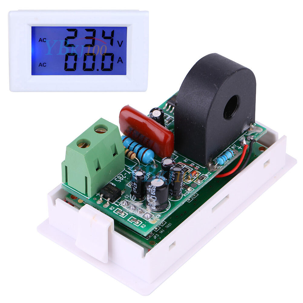 Ac Amp Meter Panel : Digital ac v a ammeter voltmeter blue lcd display