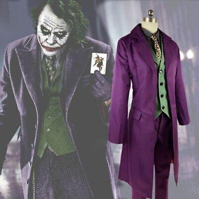 Batman The Dark Knight Joker Suit Full Set + Gloves Halloween Cosplay - The Dark Knight Joker Kostüm