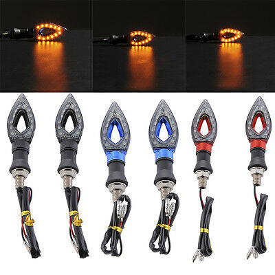 2X LED Motorcycle Turn Signal Side Light Motorcycle Indicator Light Signal Lamp