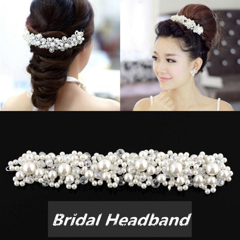 Hochzeit Braut Haarschmuck Kopfschmuck Kunstperle Kommunion Haarreif Haarband