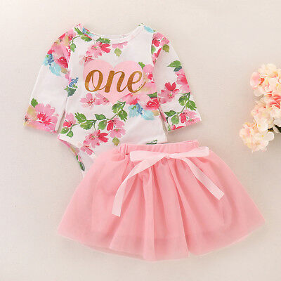 Baby Girls 1st Birthday Outfits Tutu Romper Dress Cake Smash for Valentine's Day - First Birthday Cakes For Girls