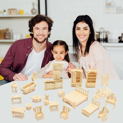 Vintage Wooden Miniature Furniture Dolls House Explore Creativity  Kids Adults