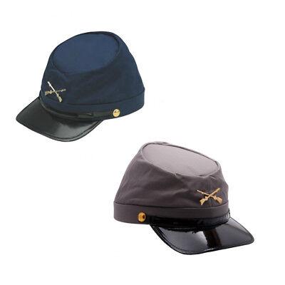 Civil War Army Cap (Choose Your Cap) Union Confederate Hat Navy USA