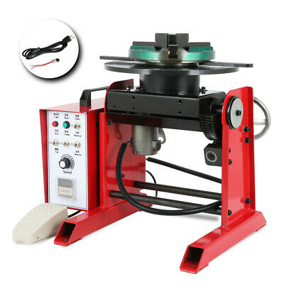 Rotary Welding Positioner Time-controller 0-90 Tilte Table Three-jaw Chuck 30kg
