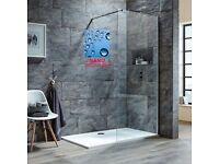 Walk in tall shower screen panel