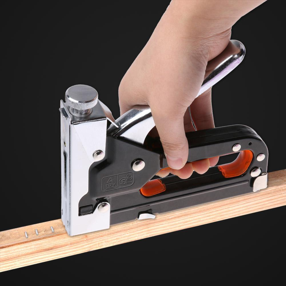 Multi Tool Nail Staple Gun Furniture Stapler For Wood Upholstery Framing Rivet