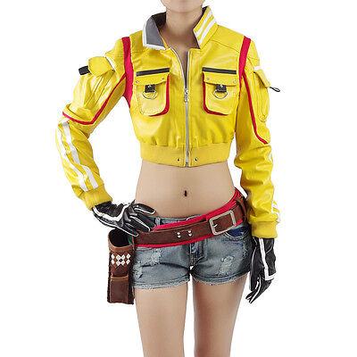 Final Fantasy FF15 Cindy Aurum Cosplay Costume Jacket Halloween Full Set - Final Fantasy Halloween Costumes