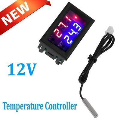 Digital Led Microcomputer Thermostat Controller Switchtemperature W Sensor 12v
