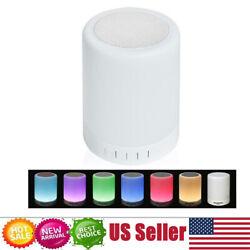 LED Night Light Wireless Bluetooth Speaker Alarm Clock Touch Sensor Bedside Lamp