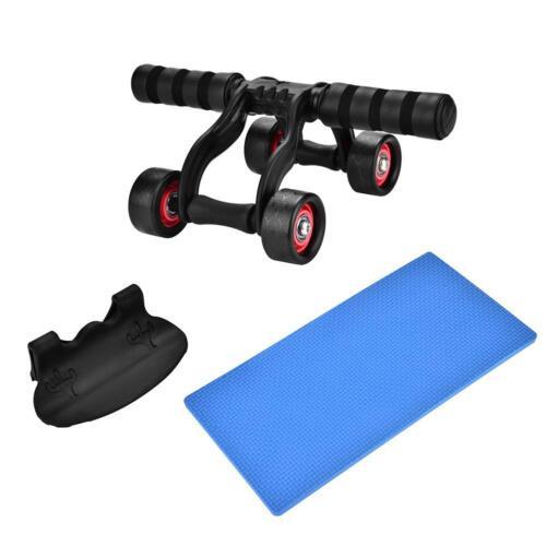 Bauchtrainer Bauchmuskeltrainer mit 4 Rollen AB-Wheel effiziente Fitness NEU