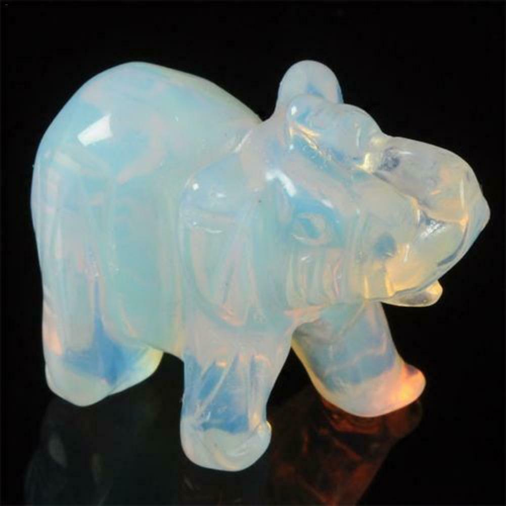 Hand Carved Aventurine Jade Stone Craving Lucky animal Feng Shui Statue