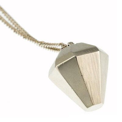 NEW TIMI Jewelry Silver 3D Diamond Pendant Necklace -65% OFF 3d Diamond Pendant Necklace