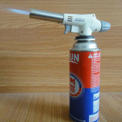 Soldering Iron Blow Lighter Burner Camping Welding BBQ Tool Butane Torch Gas UK