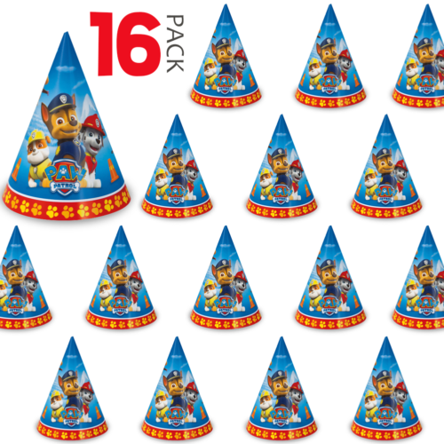 16 Paw Patrol Party Hats Perfect for Birthday Party, Kids /