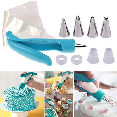 New Pastry Icing Piping Bag Nozzle Fondant Cake Cupcake Decorating Pen Set Tool