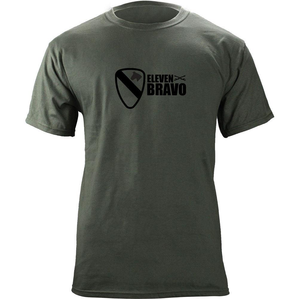 Original Army 1st Cavalry Division 11 Bravo Infantry T-Shirt