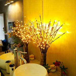 UK LED Fairy Lights with Flowers Effect Decorative Twig Branch Home Lighting Top