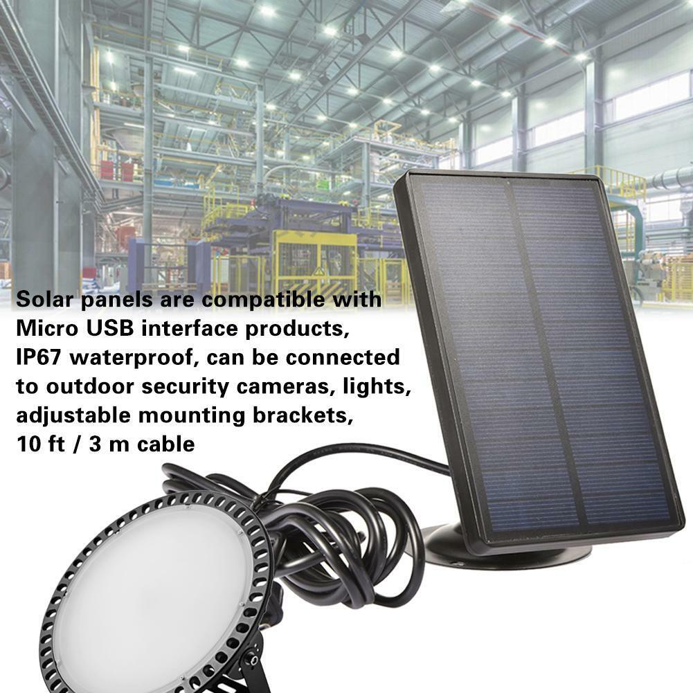 Solar Panel Micro USB Powered IP67 Outdoor Security Camera L
