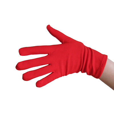Superhero Dance Costumes (Short Wrist Length Red Costume Gloves ~ HALLOWEEN SUPERHERO SANTA DANCE)