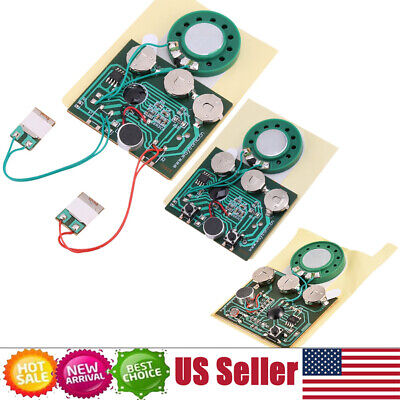 30s Recordable Voice Module Key Button Control Music Box Chip for Xmas Card ()