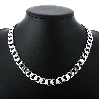 Figaro Chain 18K White Gold Plated Chain Men Necklace 18