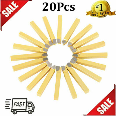 20 Pcs 38 Inch Carbide Tip Tipped Cutter Tool Bit Set For Metal Lathe Tooling