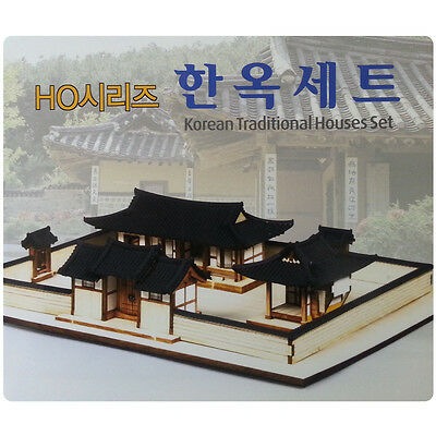 NEW HO(1/87) Korean traditional house Wood toy Building