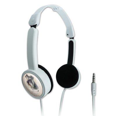 Schnauzer Dog Breed Novelty Travel Portable On-Ear Foldable Headphones