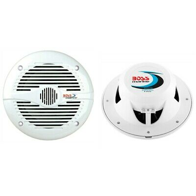 2 Boss Audio MR60W Altavoces Marinos 165MM 4 Ohm 90DB Hotel Restaurante...