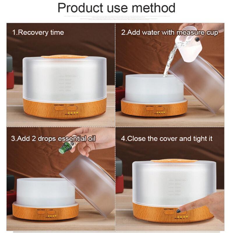 500ml Remote Control Aroma Essential Oil Diffuser Ultrasonic
