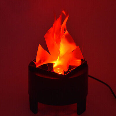 20cm 3W Red LED Fire Lamp Fake Flame Effect 3D Campfire Flame Lamp Party Decor (Halloween Fake Fire Effect)