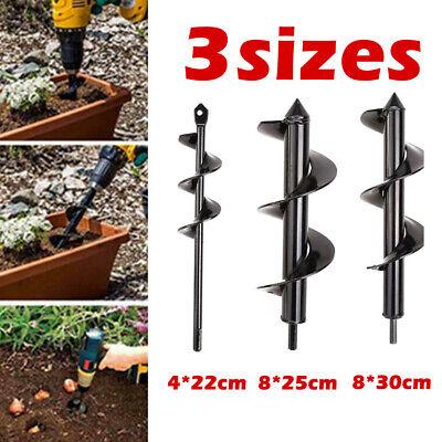 Planter Garden Yard Auger Spiral Drill Bit Flower Planting Hole Digger Drill Bit