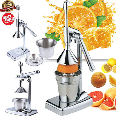 Heavy Duty Press Commercial Manual Orange Citrus Juicer Mini Juice Extractor UK