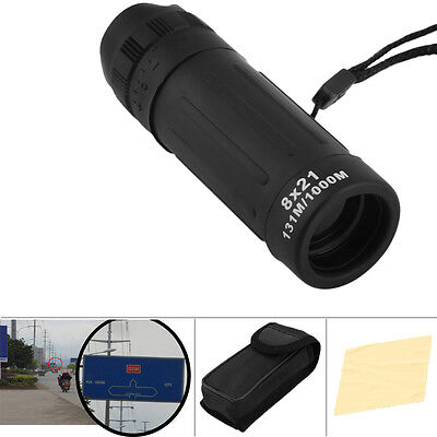 8x21 Mini Travel Monocular Telescope Tourism Scope Binocular