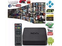 GENUINE MXQ PRO Quad Core Android TV Box Free Sports Movies TV Shows Brand New