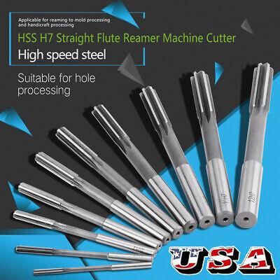 10pcs Hss H7 Straight Shank Chucking Machine Reamer Set 3456789101112mm