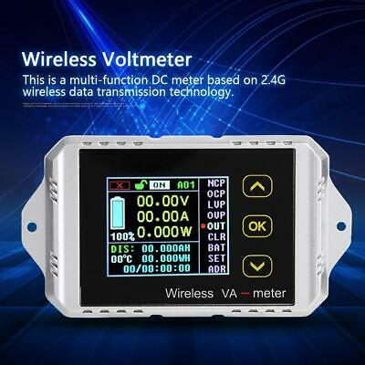 Multi-function Wireless Color Lcd Dc Digital Volt Amp Meter Capacity Counter