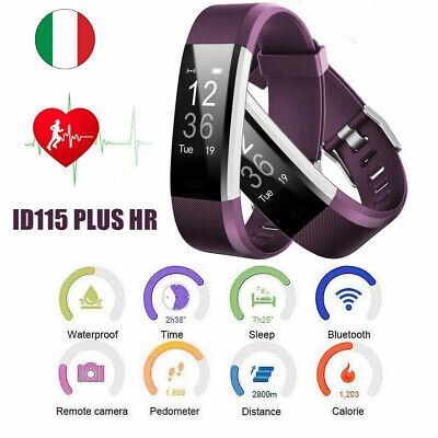 Orologio sportivo Bluetooth bracciale da polso uomo/donna digitale sport viola
