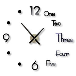 32'' DIY Large Wall Clock Big Watch Decal 3D Stickers Roman Numerals Modern USA