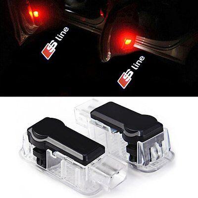 2X LED Car Door laser projector Logo Audi A3 A4 A5 A6 A7 A8 R8 Q3 Q5 Q7 TT Sline