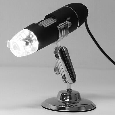 8LED 1600X 10MP USB Digital Microscope Endoscope Magnifier Camera Lift Stand